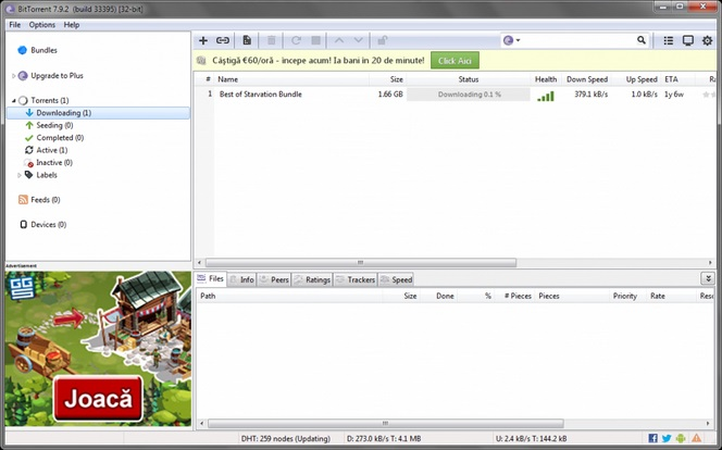 BitTorrent 7.9.5 Build 41866